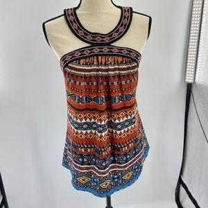 Woman's Laundry Sleeveless Printed Blouse Size SP